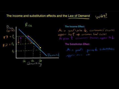 The Income and Substitution Effect - WHY does Demand Slope Downwards?
