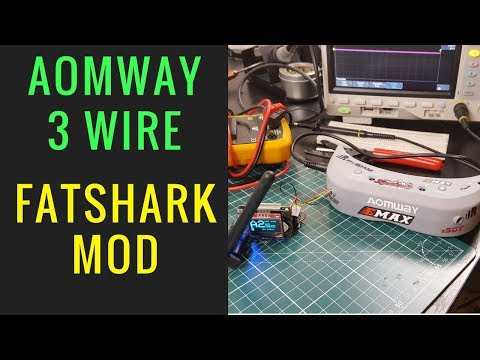 Aomway Commander Fatshark Module Mod // Only 3 Wires