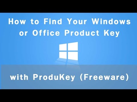 How to Find Your Windows or Office Product/ID Key with ProduKey (Freeware)