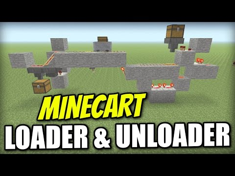 Minecraft PS4 -  MINECART LOADER & UNLOADER  - Tutorial - PE / Xbox / PS3 / Wii U