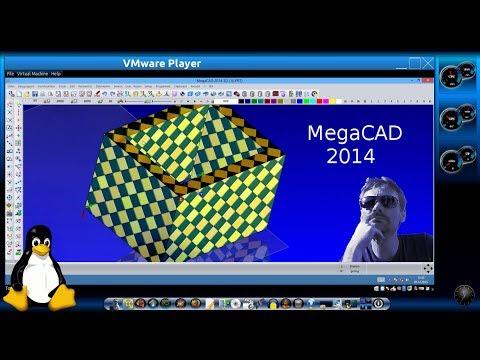 Test : MegaCAD 2014 unter Linux