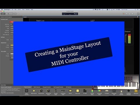 Creating a Mainstage Layout for your MIDI Controller