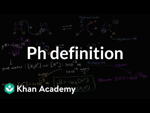 Definition of pH | Water, acids, and bases | Biology | Khan Academy