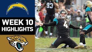 Chargers vs. Jaguars   NFL Week 10 Game Highlights