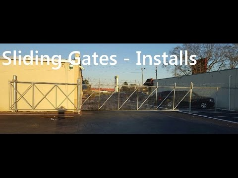 Sliding Gates for Driveways Chain Link Houston
