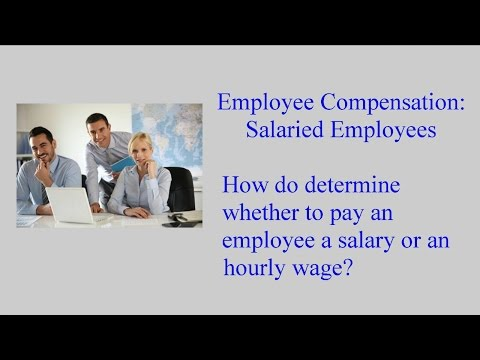 Employee Compensation:  Salaried Employees