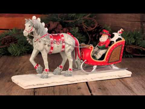 Painted Ponies® Cowboy Christmas Santa's Sleigh Centerpiece