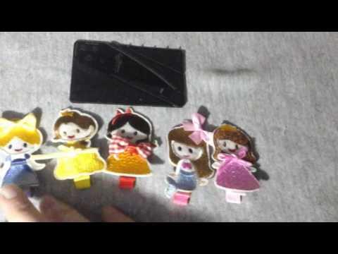 JJMG New Handmade Baby Toddler Hair Clip sets Princess Theme Hair Barrettes, Flowers, Bows, and fish
