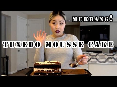 TUXEDO CHOCOLATE MOUSSE CAKE MUKBANG + STORYTIME! | DIY NINJA