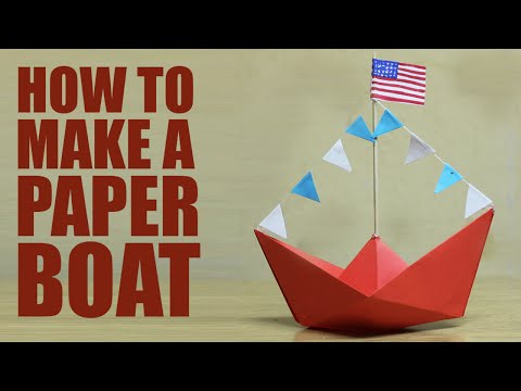 How to make a paper boat - DIY paper boat