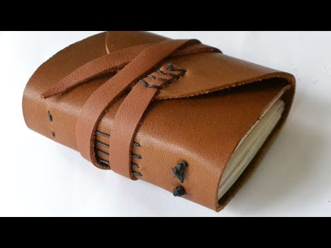 How To Make A Miniature Recycled Paper Leather Journal - DIY Crafts Tutorial - Guidecentral