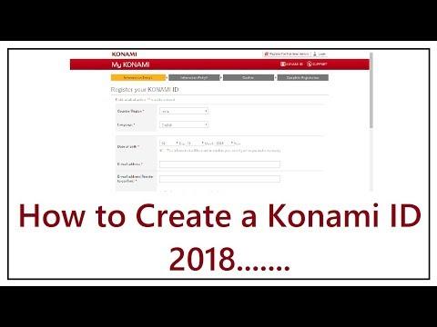 How to Create A Konami id