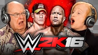 ELDERS PLAY WWE 2K16 (Elders React: Gaming)