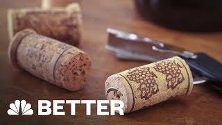 How To Open A Bottle Of Wine Without A Corkscrew | Better | NBC News