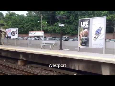 Ride on a MNRR M2 train from Westport to South Norwalk