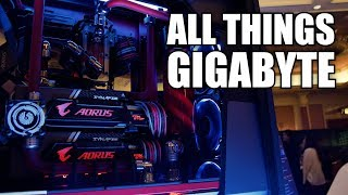 X470, Fire Alarms, & Custom Computers at Gigabyte - CES 2018