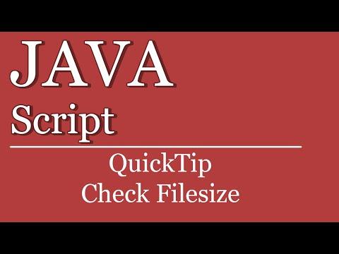 QuickTip #89 - JavaScript Tutorial - Dateigröße | upload file size | HTML | jQuery