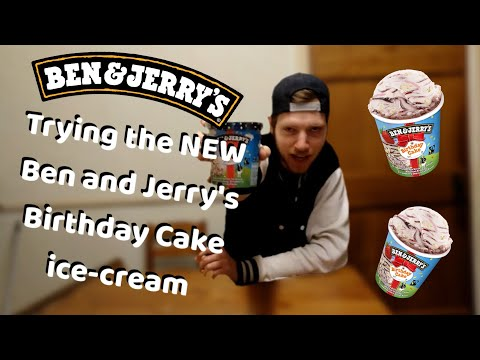Trying the NEW Ben and Jerry's Birthday Cake ice-cream