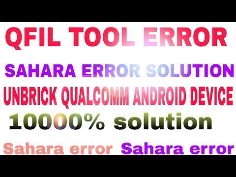QFIL TOOL SAHARA FAIL ERROR (Solve) 2016 - PlayTunez World Of Videos