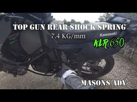 Top Gun Rear Shock Spring 7.4 kg/mm  2015 KLR 650