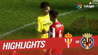 Resumen de Sporting de Gijón vs Villarreal CF (1-3)