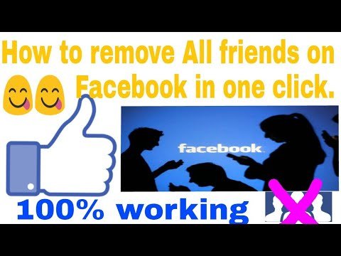 How to unfriend all friends on facebook in one click