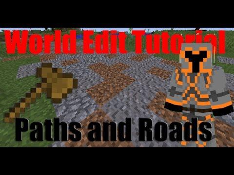Minecraft World Edit Tutorial: Paths and Roads
