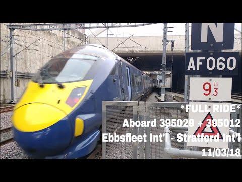 *FULL RIDE* Aboard 395029 and 395012 from Ebbsfleet International to Stratford International