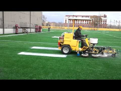 Synthetic Field Paint Removal, Grooming and Maintenance