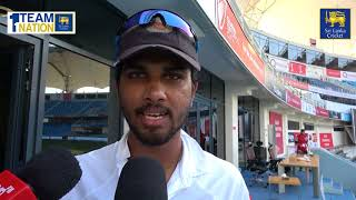 Dinesh Chandimal after winning the Test series against Pakistan in UAE