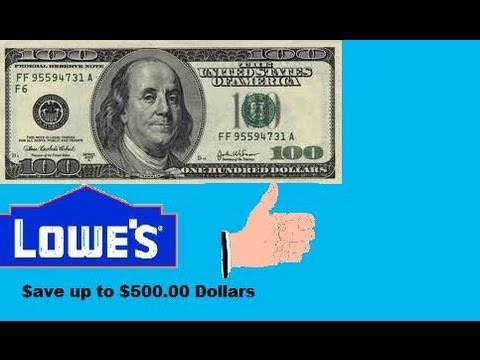 SAVE $500.00 - LOWES HOME IMPROVEMENT COUPON!
