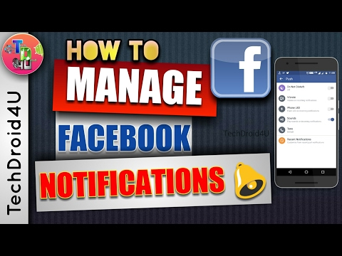 How to Stop Facebook notifications | Manage Facebook notifications from app 2017