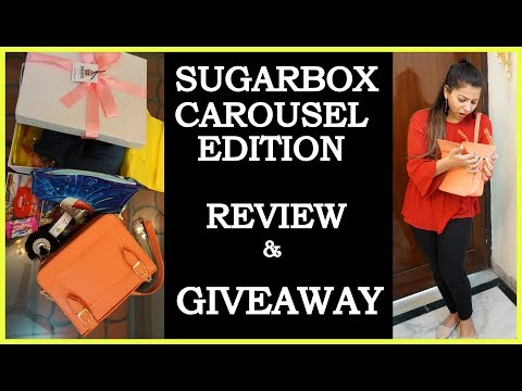 Sugarbox January 2018 | Unboxing+Overview | Carousel Edition | Giveaway Results | Fat to Fab Suman
