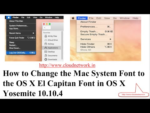 How to Change the Mac System Font to the OS X El Capitan Font in OS X Yosemite 10.10.4
