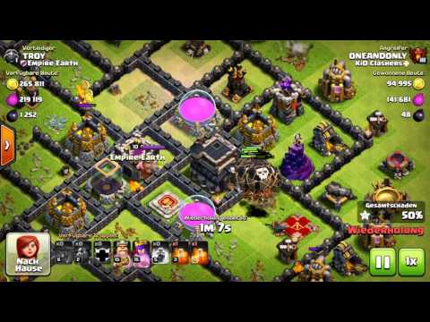 Clash of clans in 4K with big loot