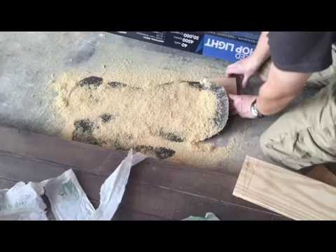 Cleaning Up a Paint Spill on Concrete