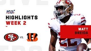 Matt Breida Breaks Away for 121 Rushing Yds in Week 2 | NFL 2019 Highlights