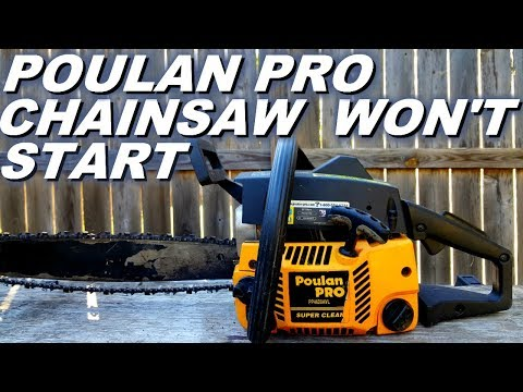 Poulan Pro chainsaw won't start.