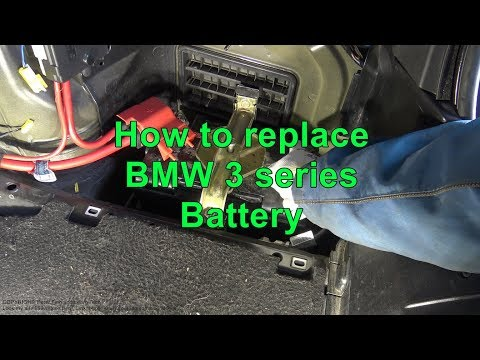 How to replace BMW 3 series Battery. Years 1999 to 2012