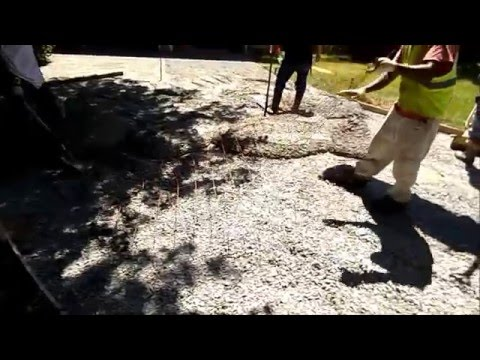 How to install a concrete driveway