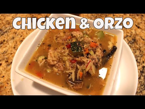 Pantry Chicken & Orzo Soup