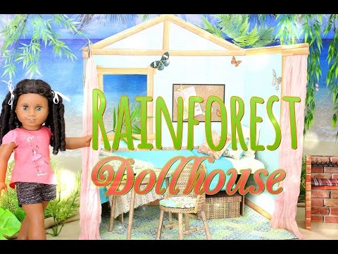 DIY - How to Make: AMERICAN GIRL Dollhouse: Rainforest House- Handmade - Crafts - 4K