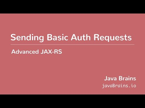 Advanced JAX-RS 23 - Sending Basic Auth Requests