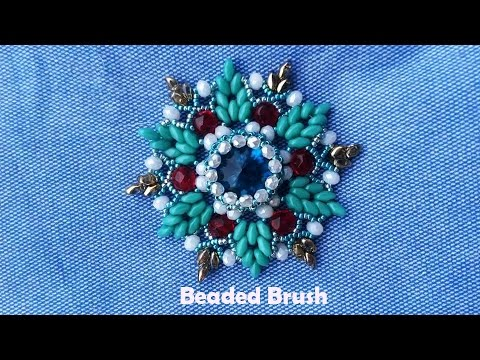 How to Make a Beads Flower for Brooch-Jewellery Making Tutorials out of Beads-DIY Handmade Beaded Je