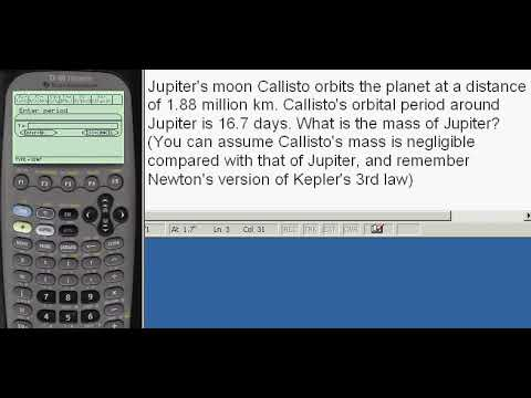 Planets, find mass of a planet given the orbital radius and period