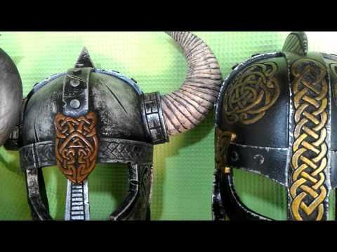 DIY Viking Helmet Props