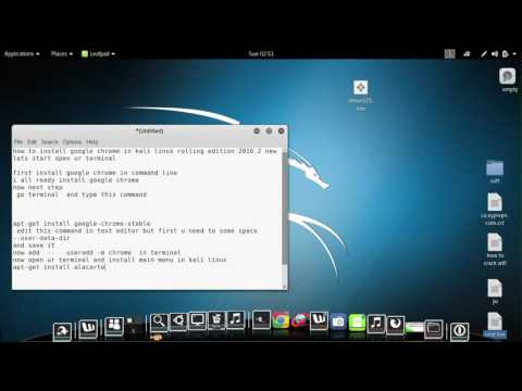 how to install google chrome in kali linux rolling 2 edition october 2016
