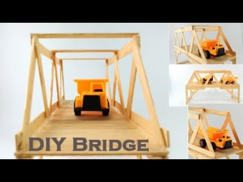 How to Make  Bridge from Popsicle Sticks
