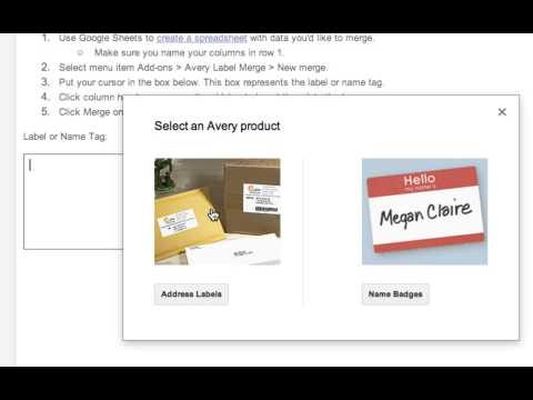 HOW TO MAIL MERGE AND CREATE LABELS IN GOOGLE DOCS