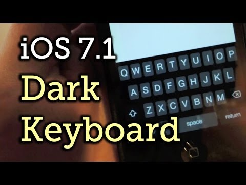 Get the Dark Keyboard in iOS 7.1 (Plus a Darker Home Screen Dock & Folder Icons)